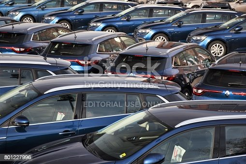 652712094 istock photo Modern cars on the parking 801227996