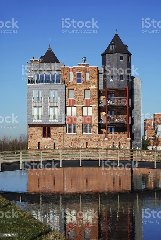 Modern Castle at Haverleij royalty free stockfoto