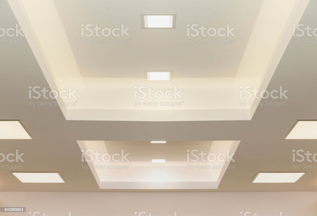 modern ceiling lights stock photo