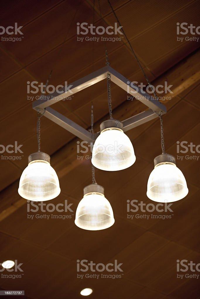 Modern ceiling pendant light armature royalty-free stock photo