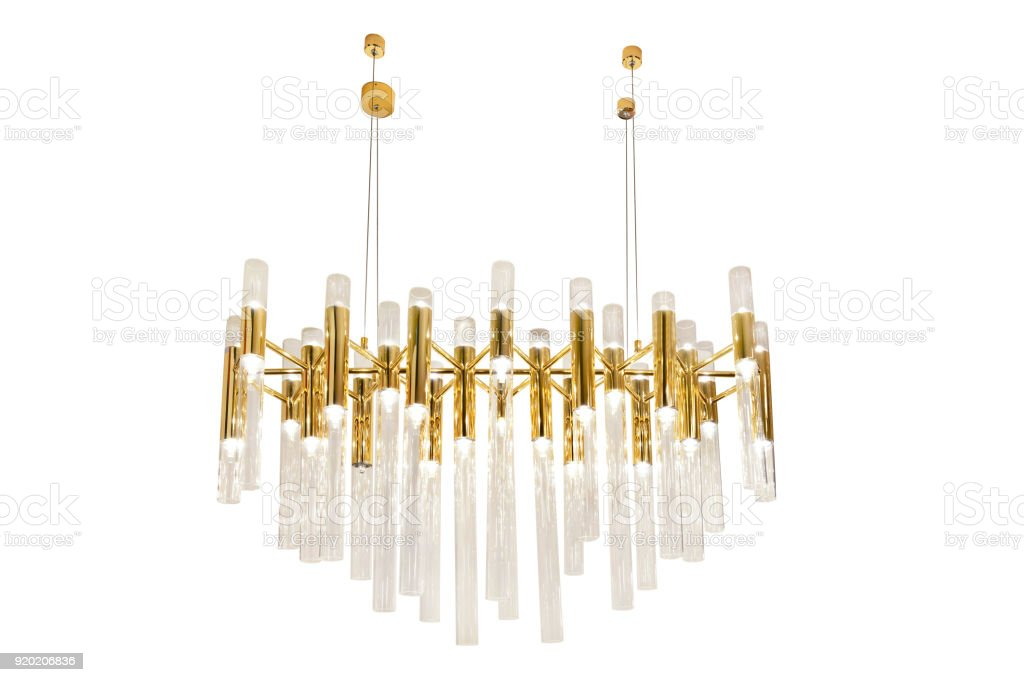 Modern chandelier stock photo