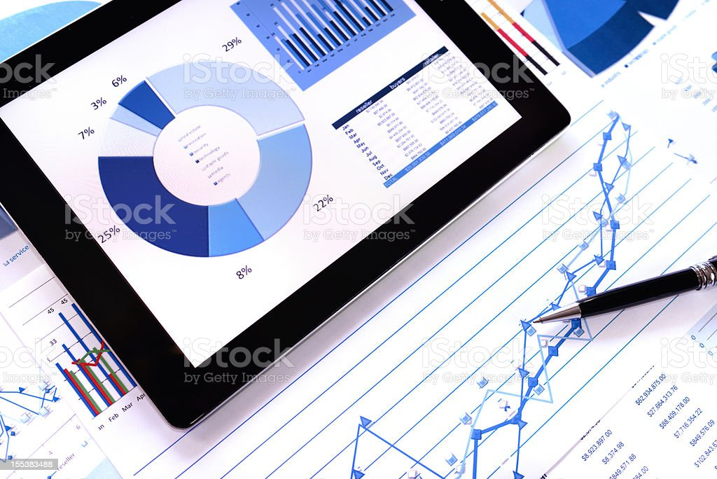 Modern chart background stock photo