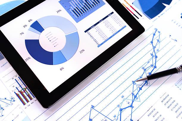 sfondo grafico moderno - rapporto finanziario foto e immagini stock