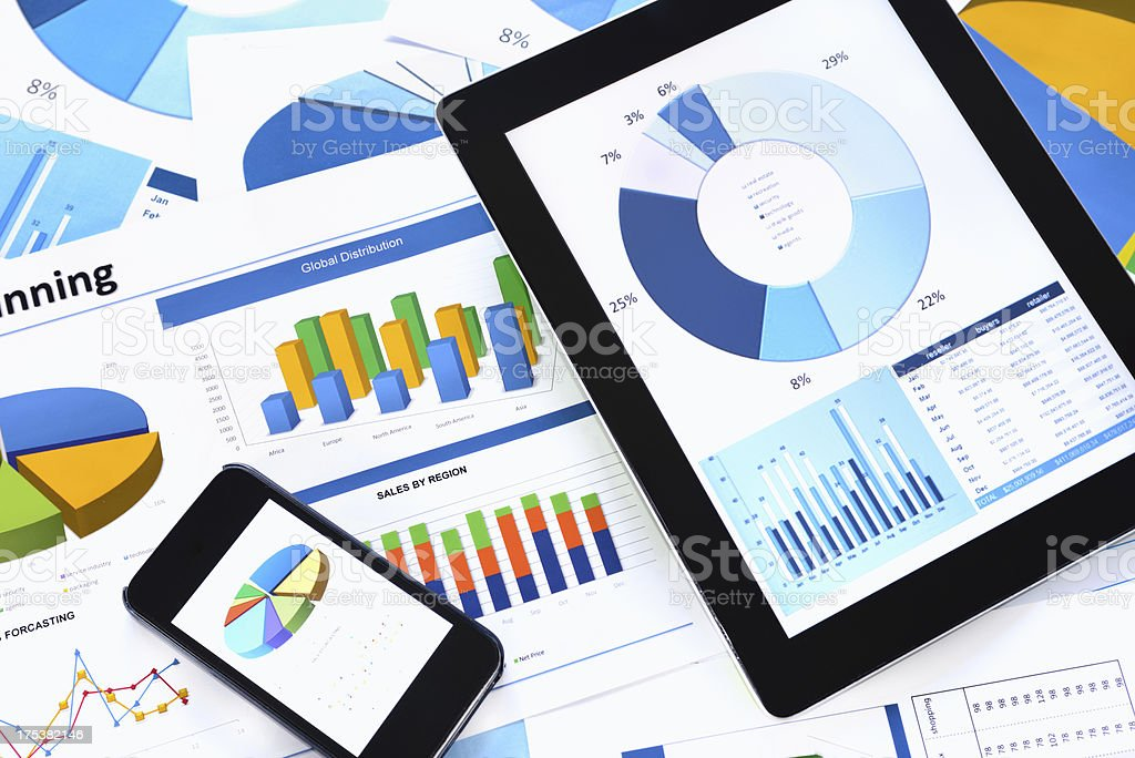 Modern chart background stock photo