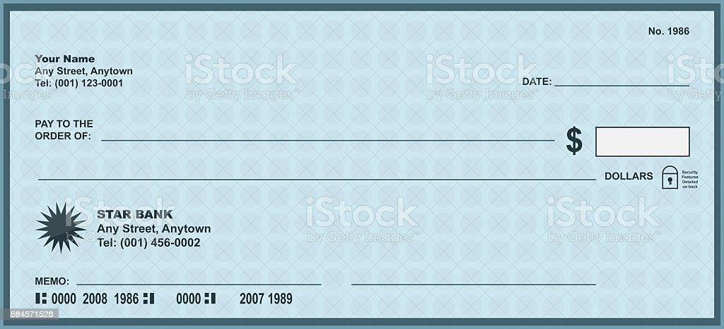Modern check stock photo