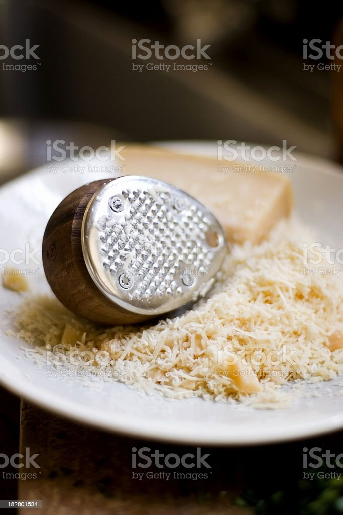 Modern cheese grater stock photo