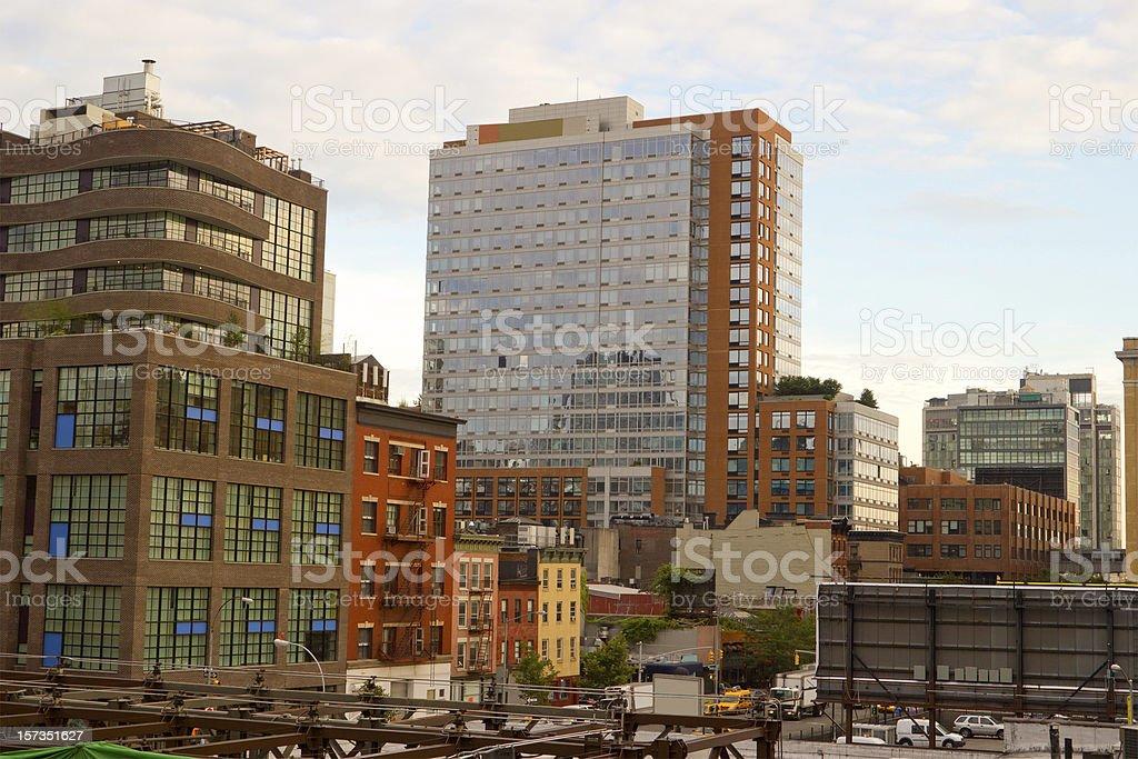 Modern Chelsea buildings, New York stock photo