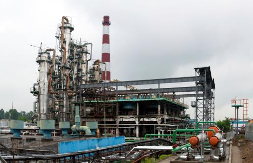Modern chemical plant. Havy industry