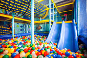 Moscow - June 24, 2014: Modern children playground indoor