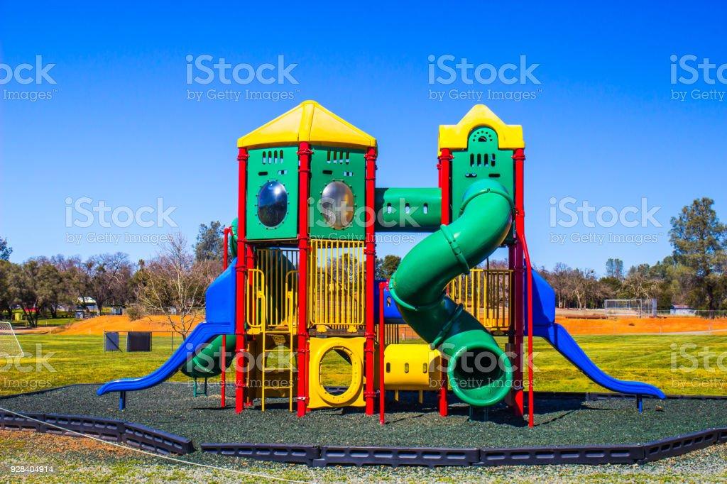 Modern Children's Jungle Gym Playground Set stock photo