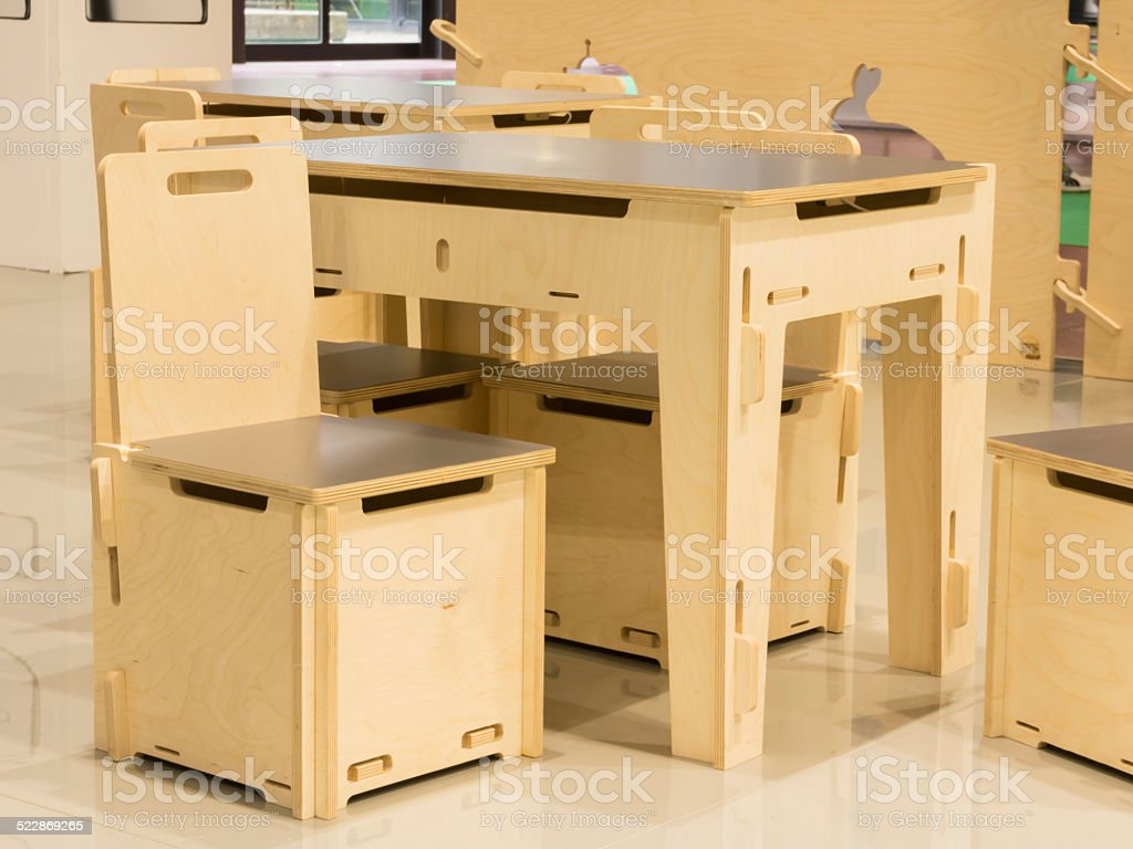 Modern Childrens Playroom Table And Chairs Set Stock Photo Download Image Now Istock