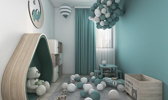 Modern Children`s Room