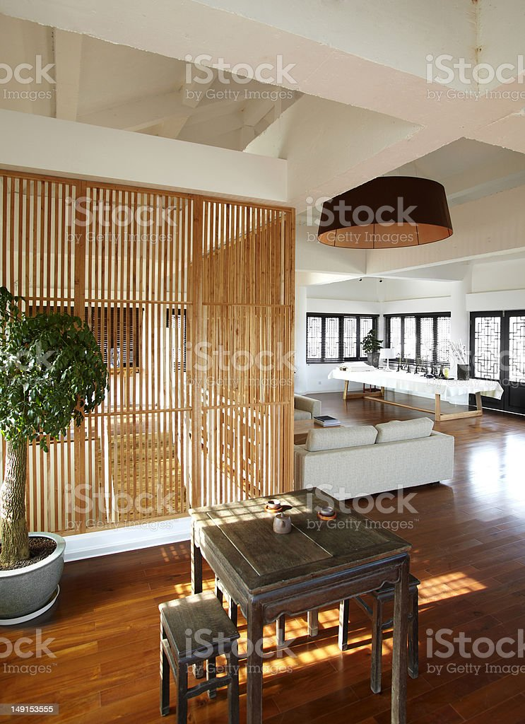 Modern Chinese type house royalty-free stock photo