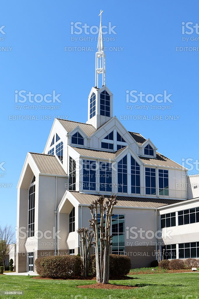 Modern Church Building Exterior Stock Photo - Download Image