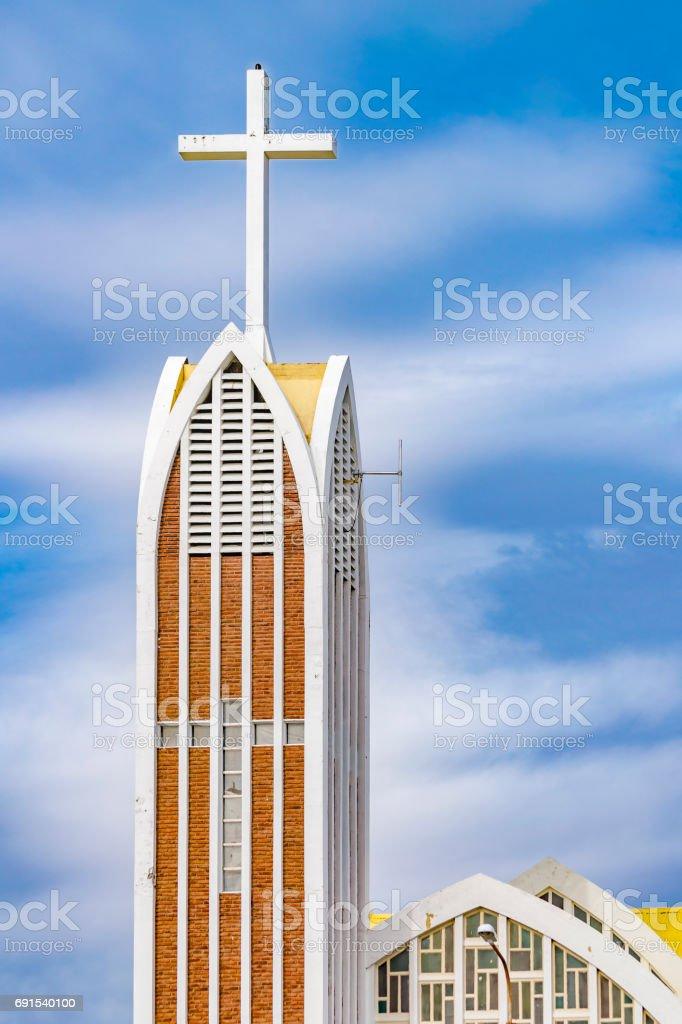 Modern Church Building Exterior View stock photo