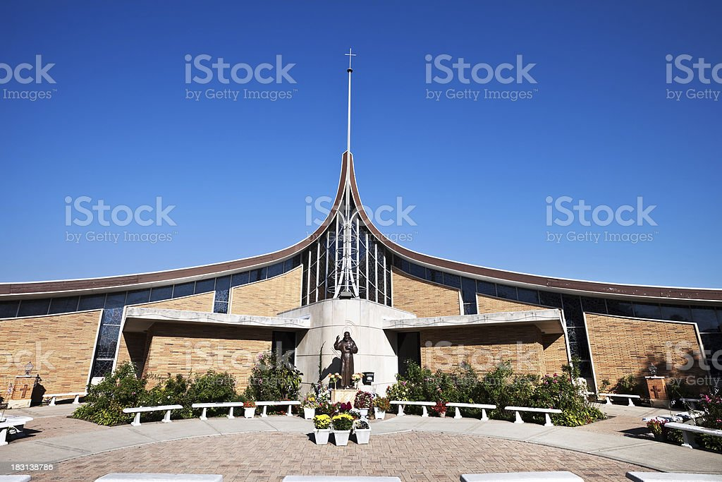 Modern Church in Dunning, Chicago royalty-free stock photo