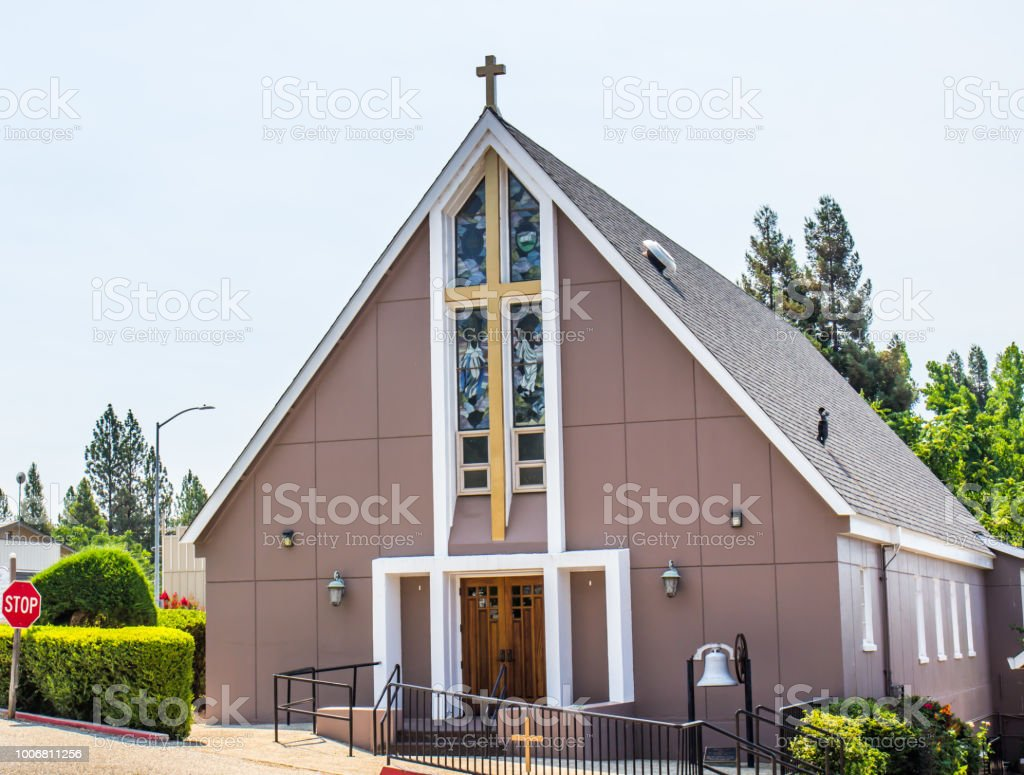 Modern Church With Cross & Bell In Foothill Community
