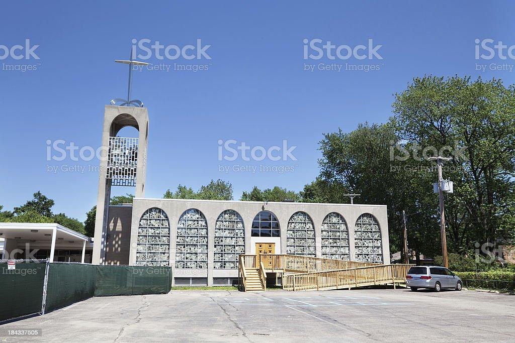 Modern Church in Forest Glen, Chicago royalty-free stock photo
