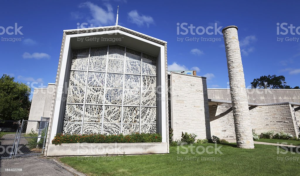 Modern Church in Montclare, Chicago royalty-free stock photo