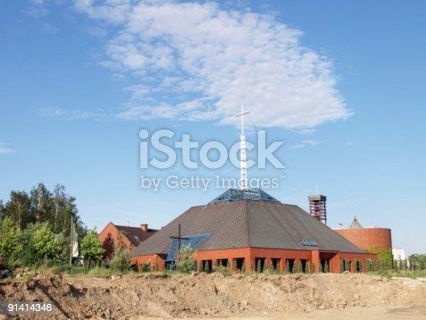 istock Modern church 91414346