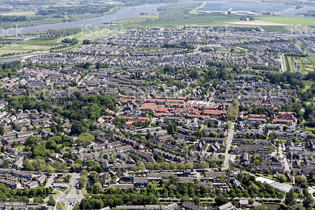 Modern city aerial view foto
