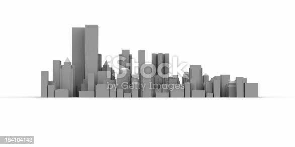 istock Modern City and high buildings 184104143