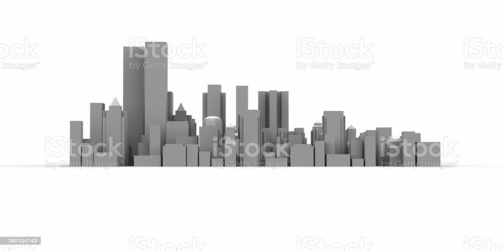 Modern City and high buildings stock photo