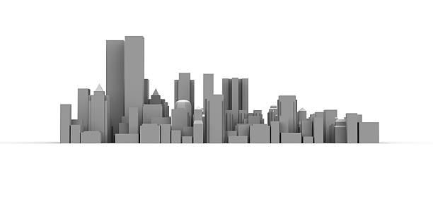 Moderne Stadt mit hohen Gebäuden – Foto