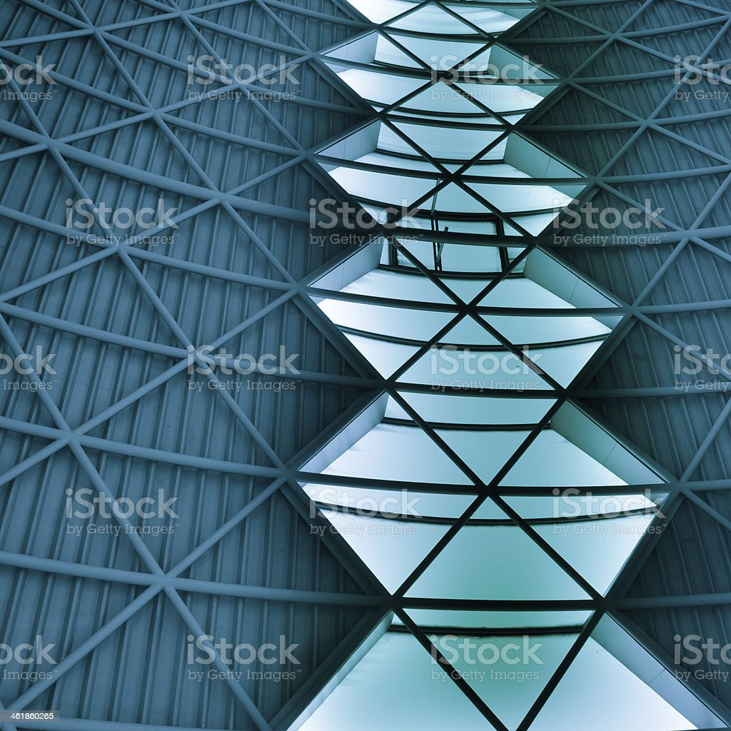 modern city architecture ceiling detail stock photo