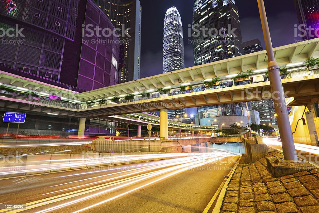 modern city at night royalty-free stock photo