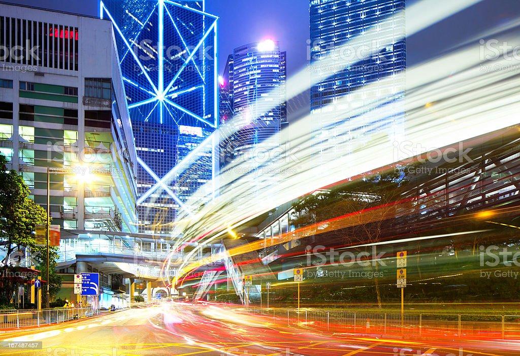 Modern city at nihgt royalty-free stock photo