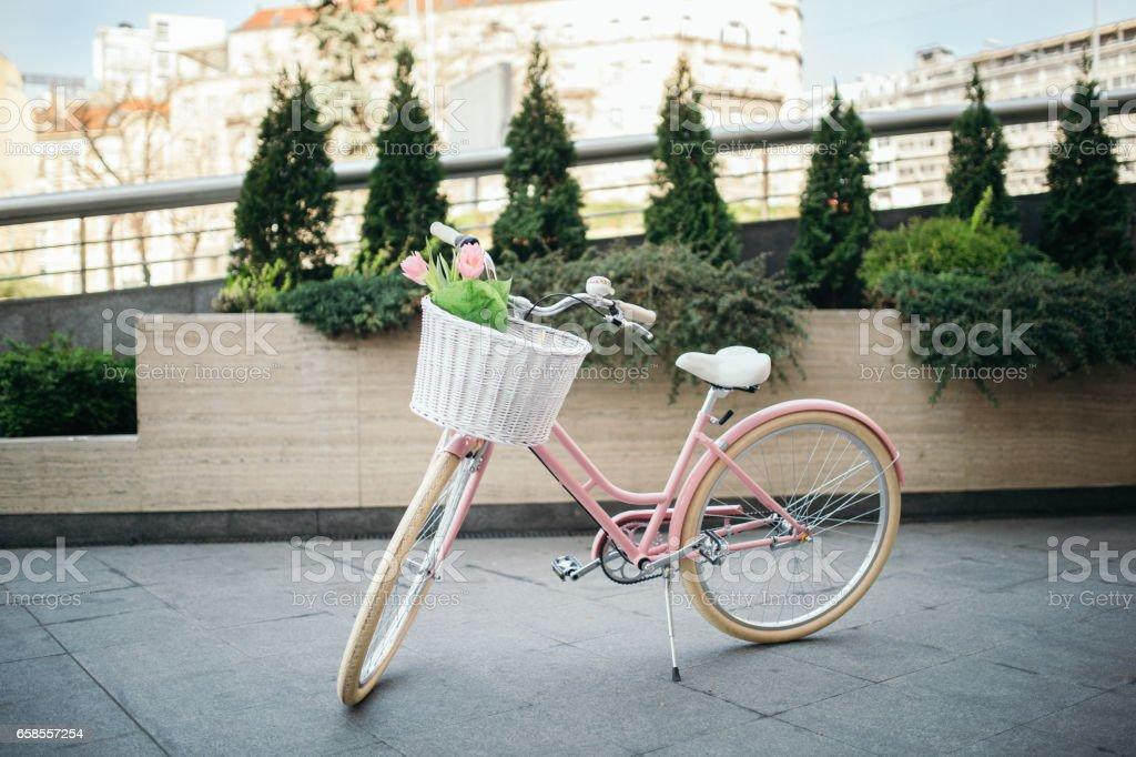 Modern city bike stock photo