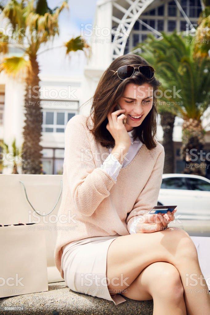 Modern city girl stock photo