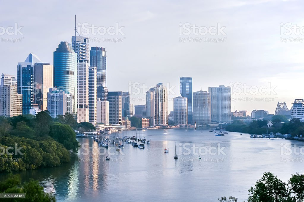 Modern city in the morning stock photo