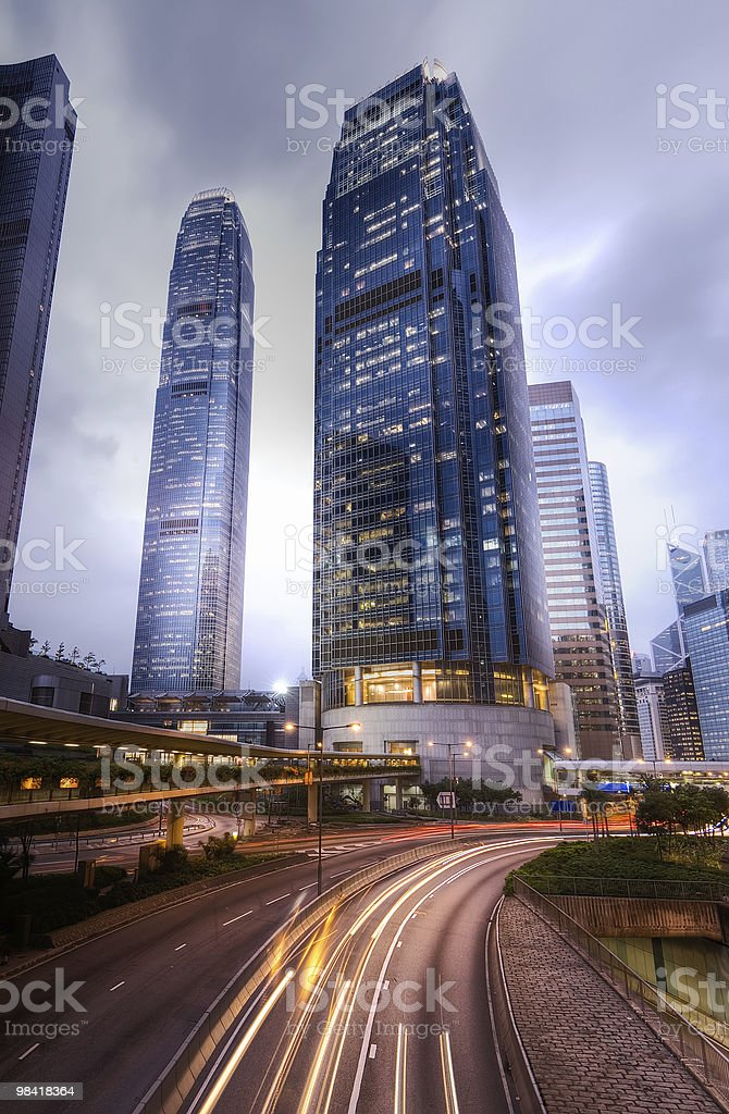 Modern city night royalty-free stock photo