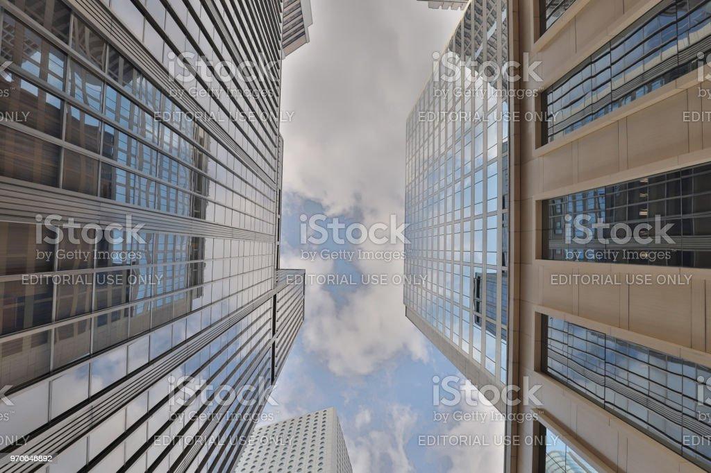 現代城市摩天大樓, 中, 港, 中國。圖像檔