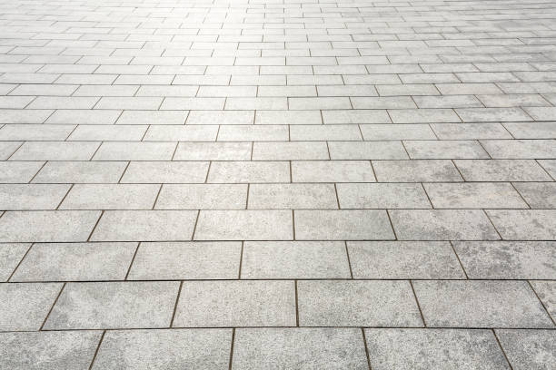Modern city square floor texture background stock photo