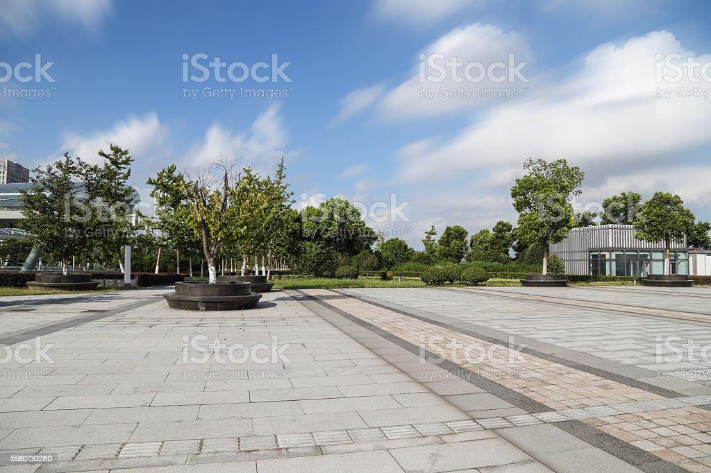 modern city square foto royalty-free