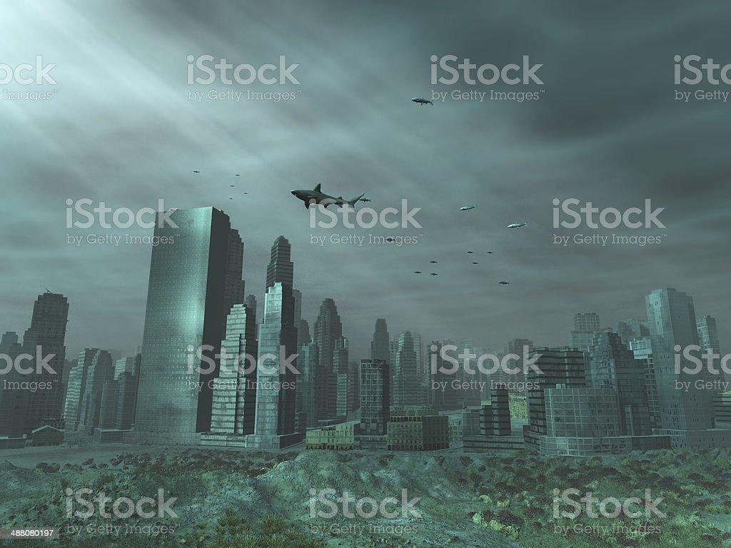 Moderne Stadt unter dem Meer – Foto