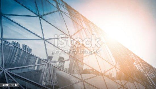 istock modern city urban futuristic architecture reflection 458861143