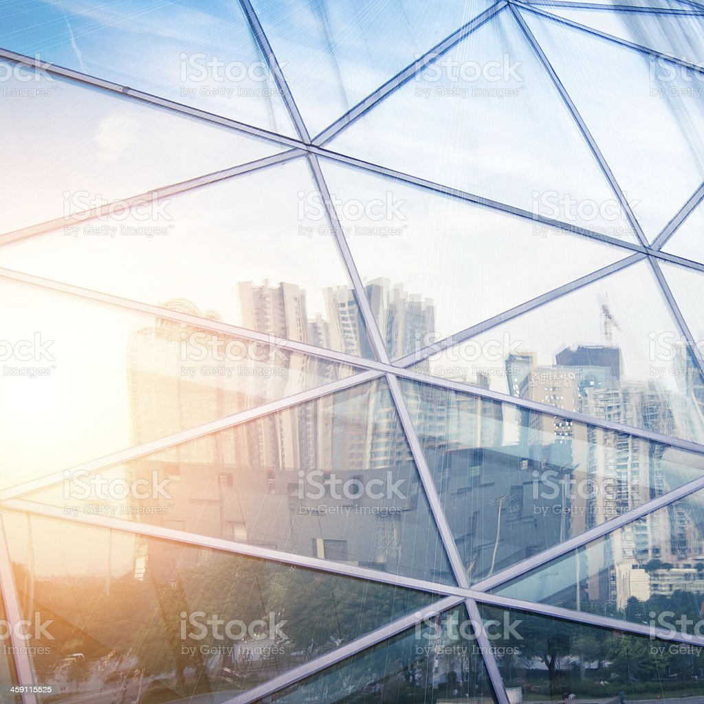 modern city urban futuristic architecture reflection stock photo
