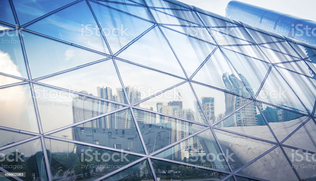 modern city urban futuristic architecture reflection stock photo