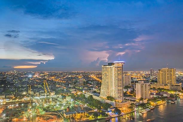 Modern city view of Bangkok stock photo