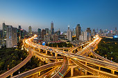 City, Road, Cityscape, Traffic, Highway, Shanghai, Overpass