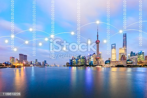 1155541483istockphoto Modern city with wireless network connection concept,Shanghai 1159510225