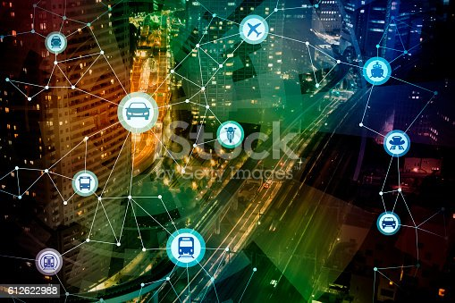 istock modern cityscape and various transportation network 612622988