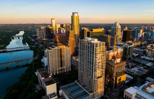 Modern Cityscape at Sunset stock photo
