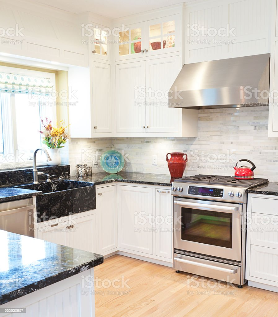 Modern Classic Kitchen Design With Range And Vent Hood Stock Photo Download Image Now Istock