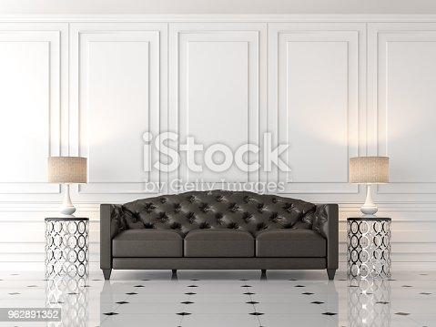 902720222istockphoto Modern classic living room 3d render 962891352