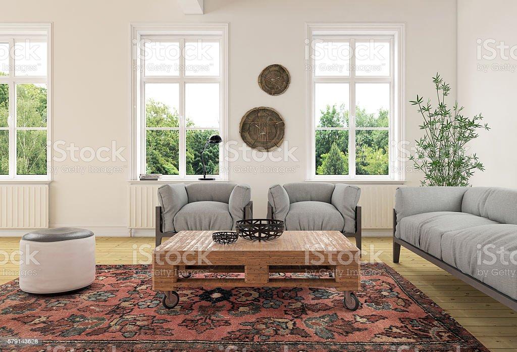 modern classic living room interior ストックフォト 写真素材